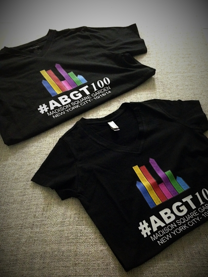 Our ABGT #100 Event Tshirts, ready!