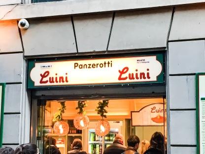 A must, STOP! Panzerotti: Luini